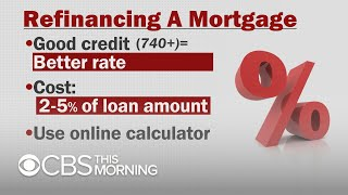 Advice for homeowners looking to refinance their mortgage