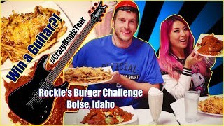 Win A Guitar Food Challenge in Boise, Idaho - Rockies Diner Man vs Food   #CrazyMagicTour