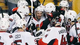 MacArthur scores OT winner, Senators eliminate Bruins