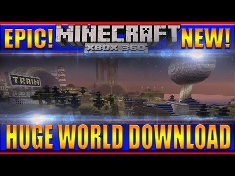 Minecraft - XBOX 360 Awesome HUGE World Download!