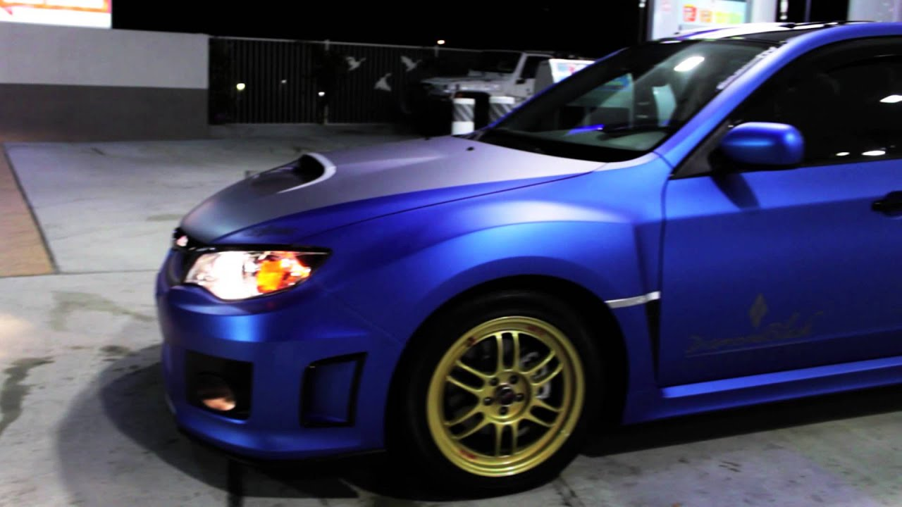 Subaru Wrx Wrapped In Metallic Matte Blue By Dbx Dbxswag