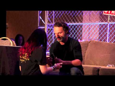 Andrew Lincoln Makes Fan's Day at Atlanta Walker Stalker Con