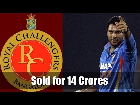 Yuvraj Singh sold for 14 Cr INR to RCB