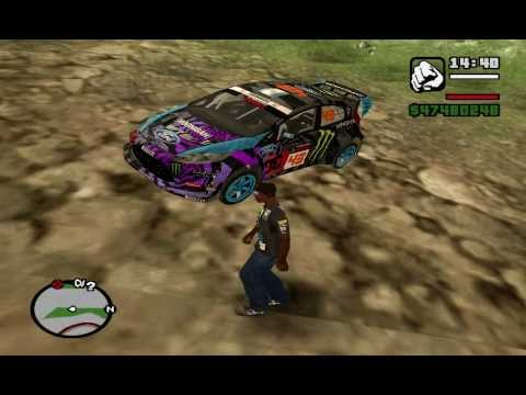 GTA SA - Ken Block's Hoonigan Division Cars and Clothes MOD