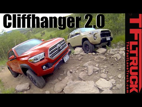 2016 Toyota Tacoma vs 4Runner TRD Pro vs Cliffhanger 2.0 Extreme Off-Road Mashup Review