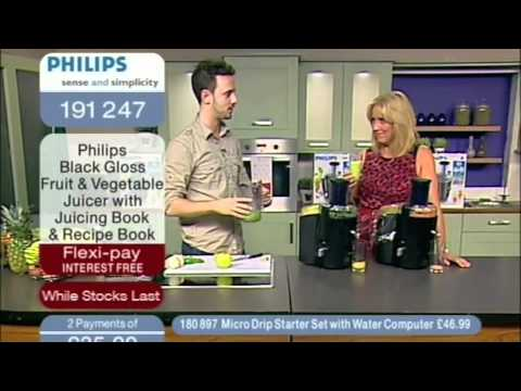 Jason Vale With The Philips Quick Clean Juicer On Australian TV