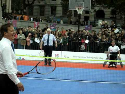 david cameron vs boris johnson tennis match