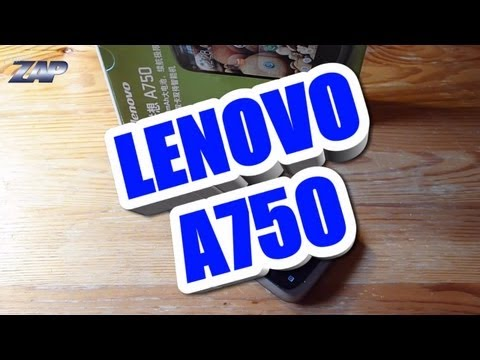 Lenovo A750 Dualsim Android Phone Review - MT6575 1GHz GPS Handy Merimobiles ColonelZap