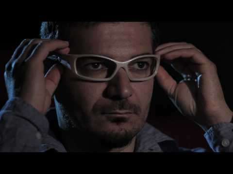 Dario Pasquarella and the augmented reality for deaf people in a cinema during Expo 2015