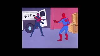 Spiderman 2099 vs Spiderman 1967 pointing scene