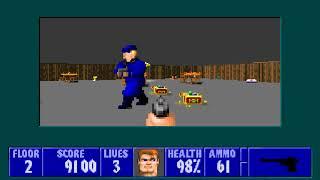 [MS-DOS] Wolfenstein 3D - Floor 2 (Epsiode I)