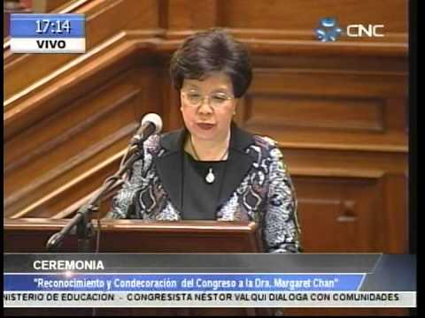 Conferencia de Margaret Chan: Contexto Internacional de Politicas de Salud y Retos en el Perú