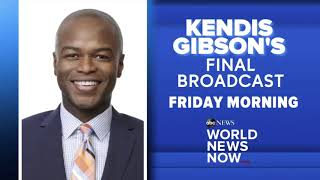 """Kendis Gibson Final """"World News Now"""" Broadcast Promo"""