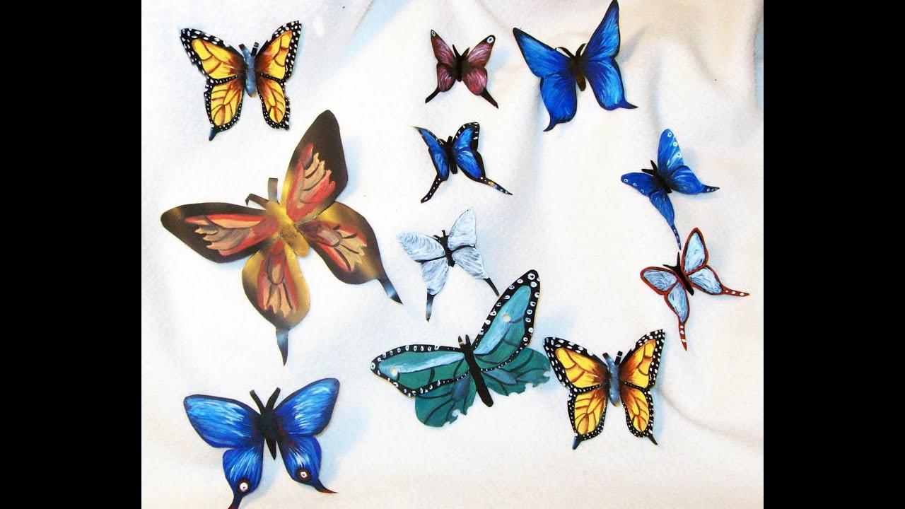 Como Hacer Mariposas Con Latas De Refresco