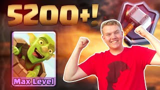 MAXED BARREL! 5,200+ Log Bait Tesla LIVE Ladder Gameplay - Clash Royale