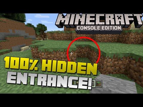 Minecraft: How to Make a 100% Hidden Secret Base Entrance! [Xbox & Playstation]