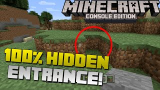 Minecraft: How to Make a 100% Hidden Secret Base Entrance! [Xbox & Playstation]