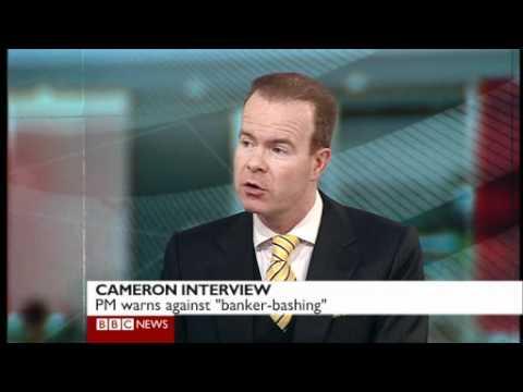 Cameron skirts Bonuses issue 9 1 2011. Juliet Dunlop with Joe Lynam on BBC News
