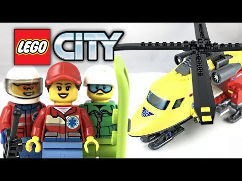 LEGO City Ambulance Helicopter review! 2018 set 60179!