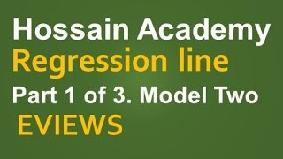 Regression. Model Two. Part 1 of 3. EVIEWS