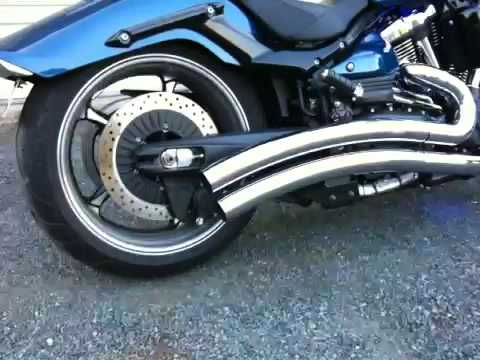DG Hard Khrome Dual Radius Pipes on a Yamaha Raider Video