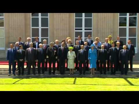 World leaders pose for D-Day group photo