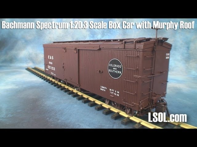 Garden Trains: Bachmann Spectrum 1:20.3 Scale Box Car with Murphy Roof.
