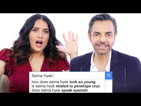 Salma Hayek & Eugenio Derbez Answer the Web's Most Searched Questions   WIRED