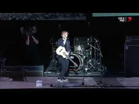 Ed Sheeran - Medley live from AFL Grand Final Post Match Concert 27 September 2014