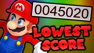 What is the lowest possible score in New Super Mario Bros. Wii?