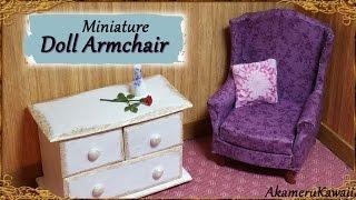 Miniature Doll Armchair - Polymer Clay/Fabric Tutorial