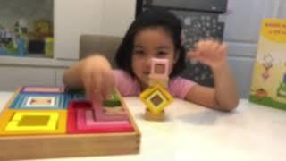 Đồ chơi xếp hình sáng tạo đa sắc bé chơi cực giỏi