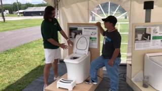 Tiny house incinerator toilet