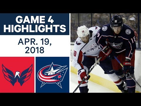 NHL Highlights | Capitals vs. Blue Jackets, Game 4 - Apr. 19, 2018