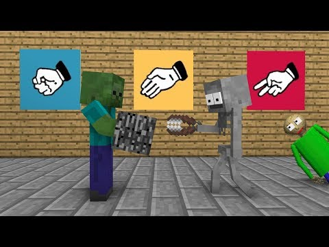 Monster School : Rock Paper Scissors - Minecraft Animation