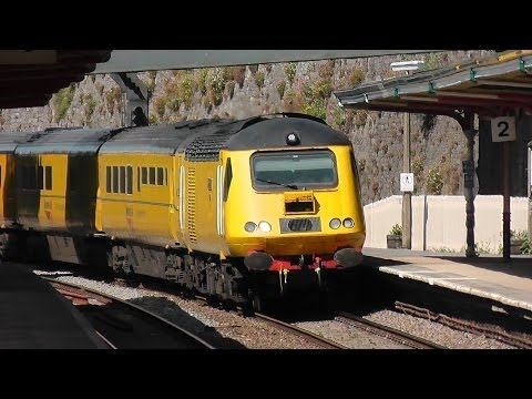 Newly named Network Rail 43014 'The Railway Observer' passes Teignmouth 20/06/14
