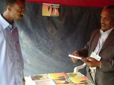 Gahdi at Book Fair in Mekelle, Ethiopia