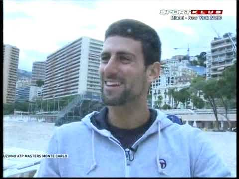 Novak Djokovic - Training With A Special Bike In The Sea And Interview - ATP Monte Carlo 2012.