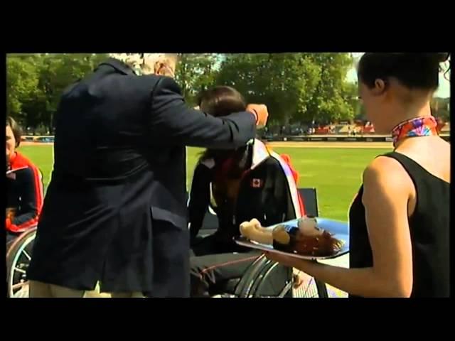 Medal Ceremony for 800m Gold Medallist Michelle Stillwell