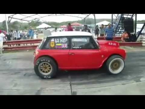 Mini Cooper with a huge 6.0L LS2 V8 Swap vs a Mitsubishi Colt. No GoPro camera on this one since we didn´t know the drivers, but still an interesting car to ...