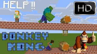 IF DONKEY KONG MEETS MONSTER SCHOOL - Minecraft Animations