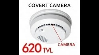 Hidden Spy Smoke Detector Camera Fully Functionally 620 TV Line CCD #CCTV