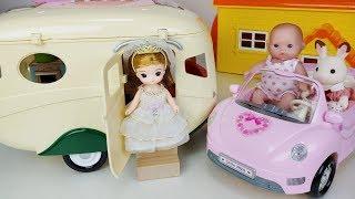 Baby doll camping car and cooking toys picnic play 아기인형 캠핑카와 요리 장난감 피크닉 자동차놀이 - 토이몽