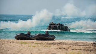 USMC Amphibious Landing Exercise With South Korean Troops - Cobra Gold 2017