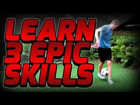 Learn 3 Epic Freestyle Football Skills - Football soccer Juggling & Ground Moves Tutorial video