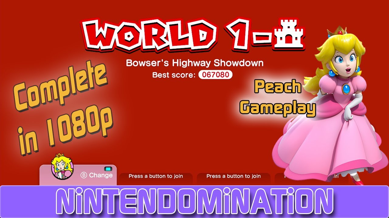 Super Mario 3D World Complete 1 CASTLE PEACH Gameplay 3D Yo
