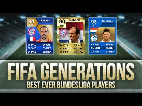 FIFA Generations   Best Ever Bundesliga Players! w/ Robben. Ribéry & Lewandowski!