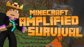 Minecraft: Amplified Survival #21 - THRONE ROOM!