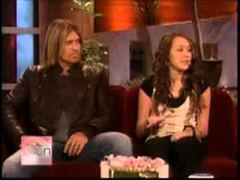 Miley And Billy Ray Cyrus On Ellen (full Interview)