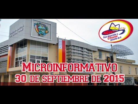 Microinformativo 30 septiembre 2015